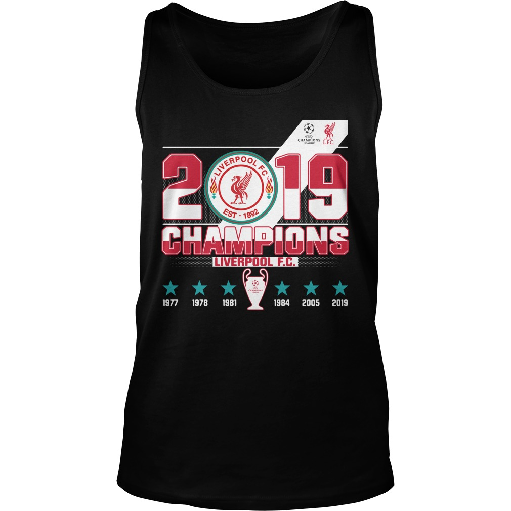 Liverpool Fc 2019 Champions Shirt tank top