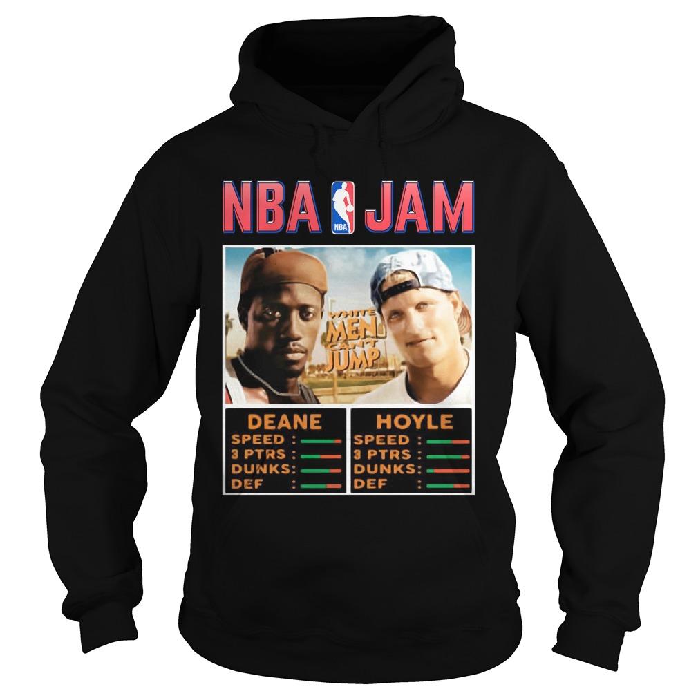 NBA Jam Deane Hoyle White men can't jump shirt hoodie