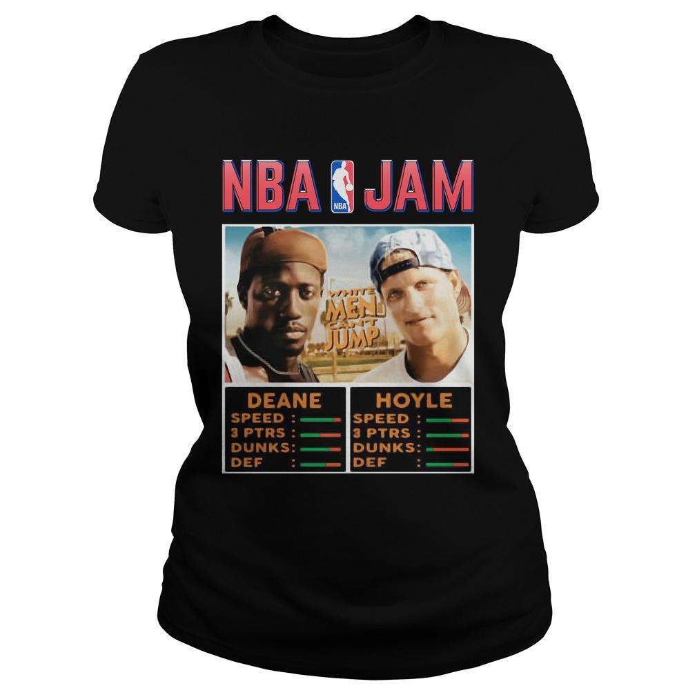 NBA Jam Deane Hoyle White men can't jump shirt ladies tee
