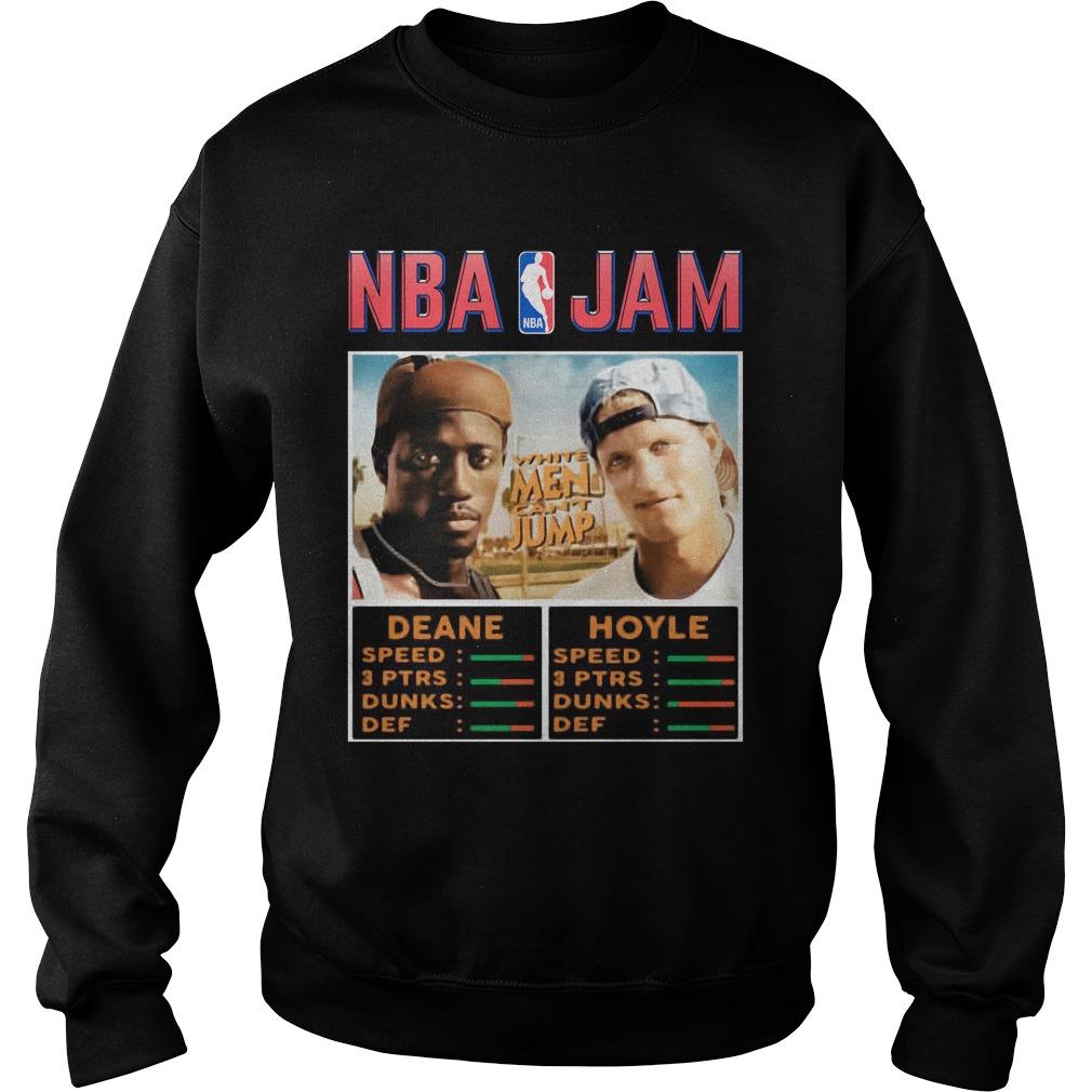 NBA Jam Deane Hoyle White men can't jump shirt sweater