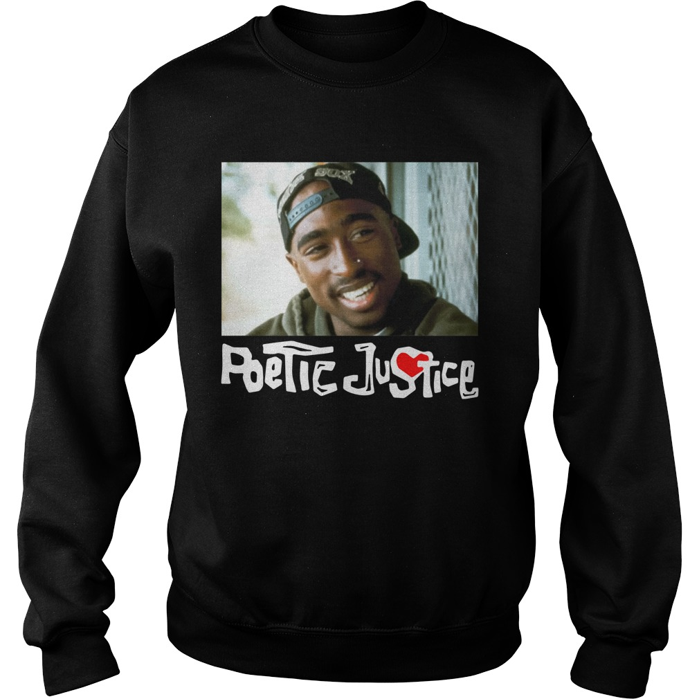 Poetic Justice Tupac Smiling Portrait Shirt sweater