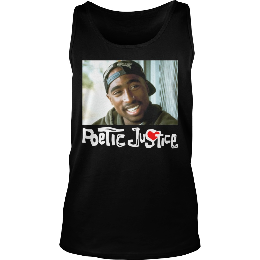 Poetic Justice Tupac Smiling Portrait Shirt tank top