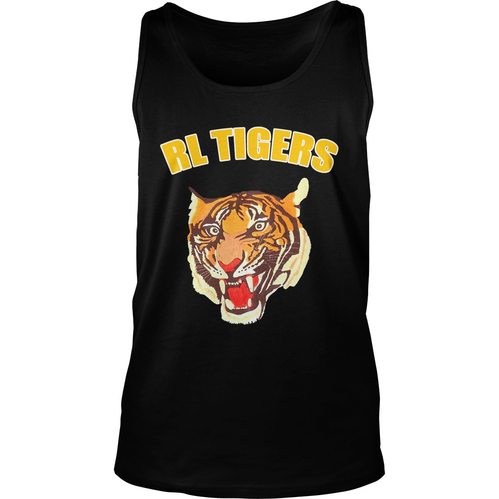 Rl Tigers Vintage Polo Ralph Lauren Tiger Leather Arms Varsity Jacket Shirt tank top