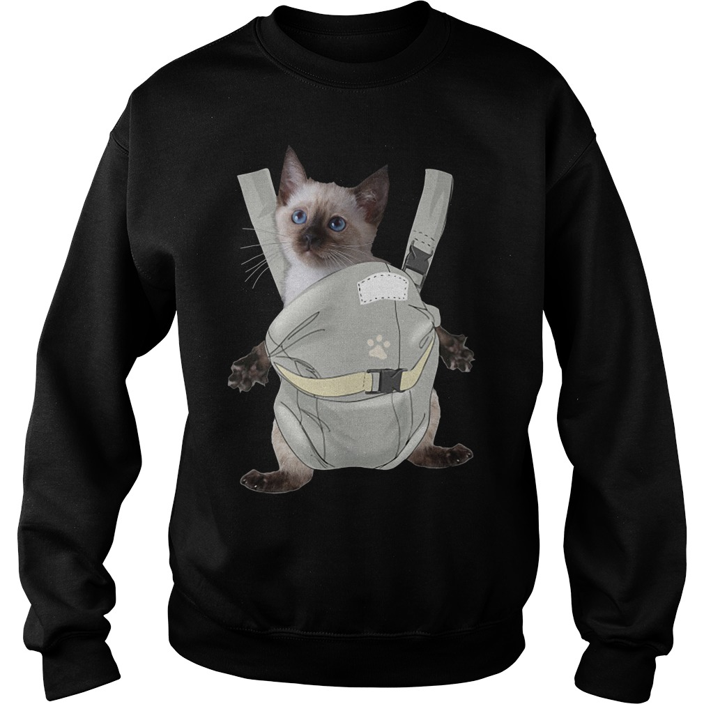 Siamese Cat Carrier Backpack Shirt sweater