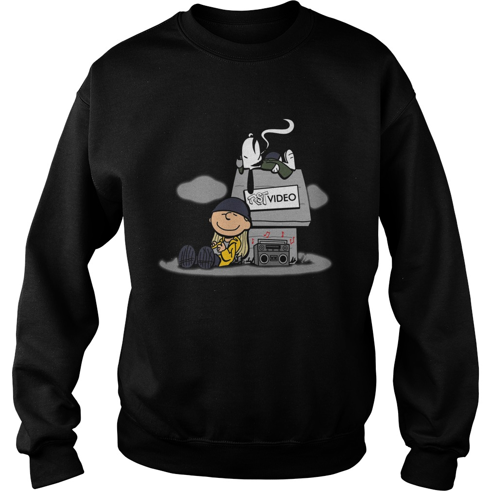 Snoopy And Charlie Brown Listening RST Video Shirt sweater