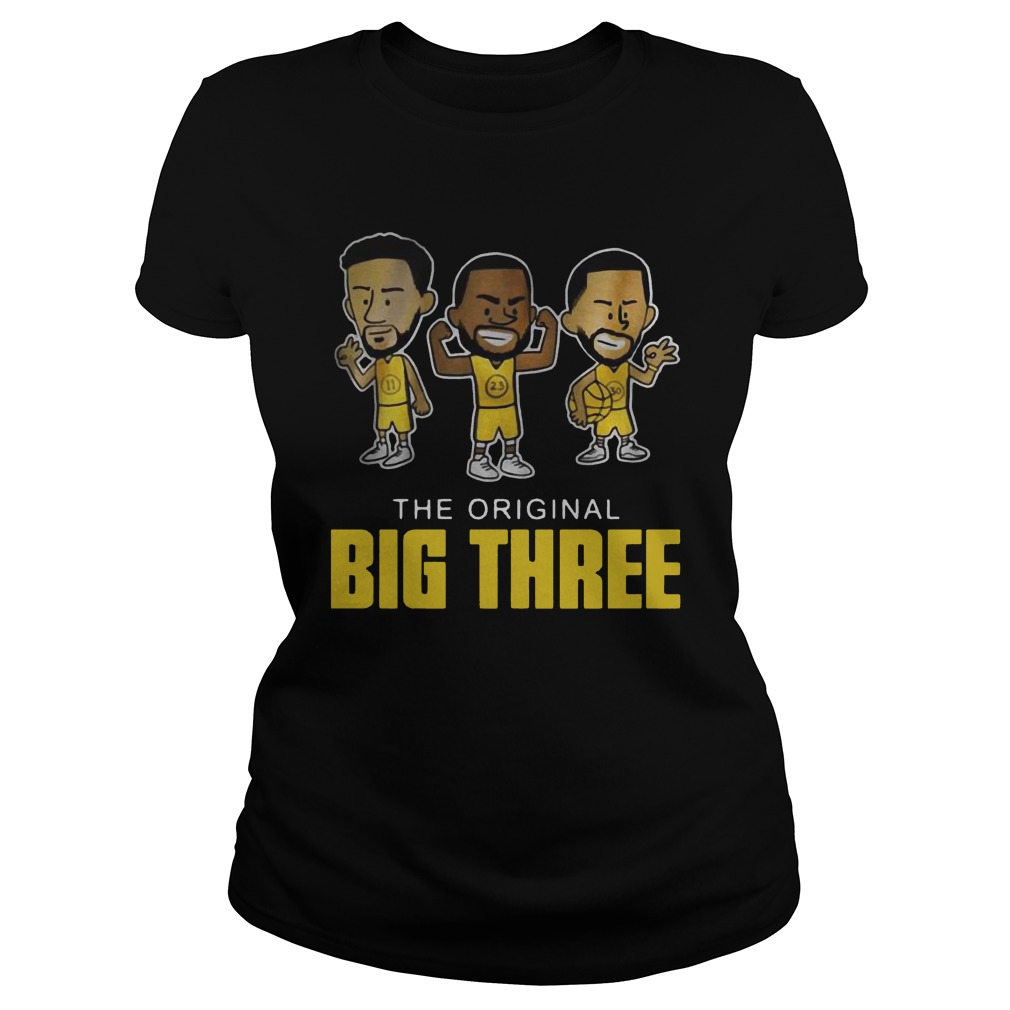 The original big three Klay Thompson Draymond Green and Steph Curry Shirt ladies tee
