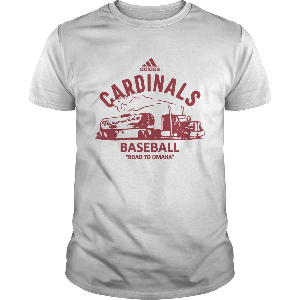 Throwing Gas Cardinals Baseball Road To Omaha Shirt
