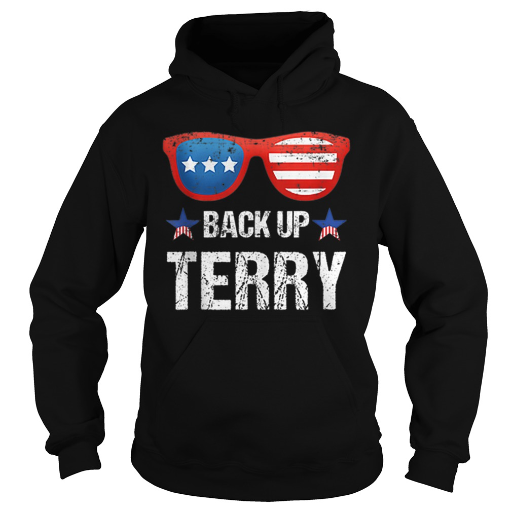 Back Up Terry American Flag 4th Of July Sunglasses Hoodie