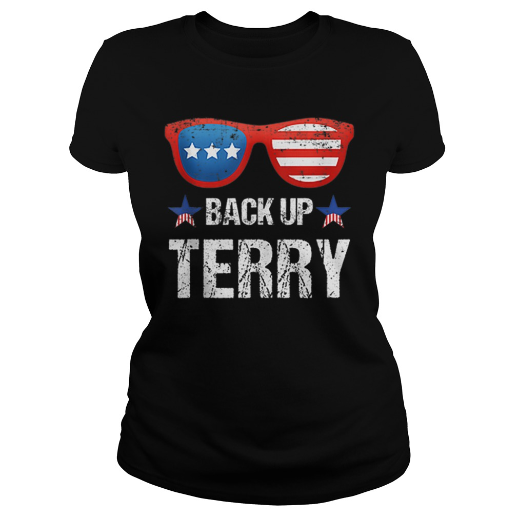 Back Up Terry American Flag 4th Of July Sunglasses Ladies Shirt