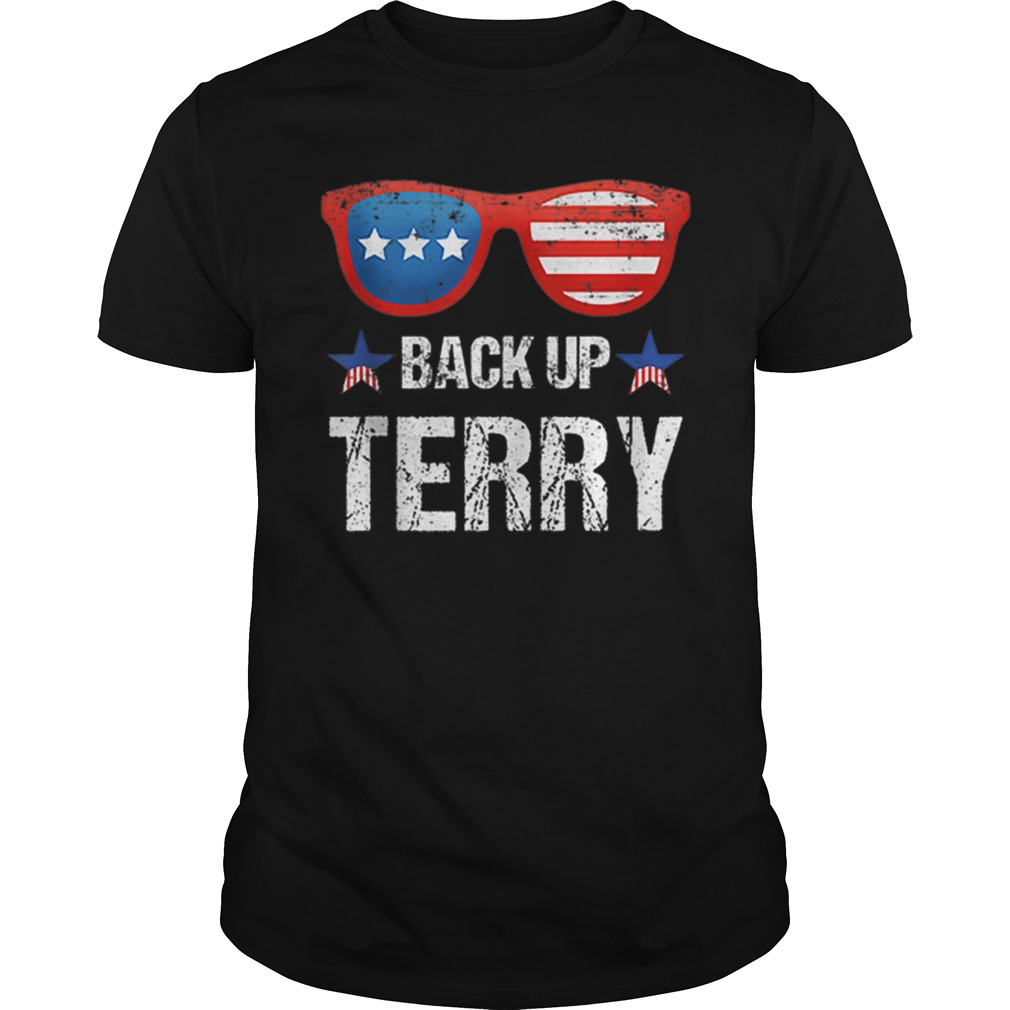 Back Up Terry American Flag 4th Of July Sunglasses Shirt