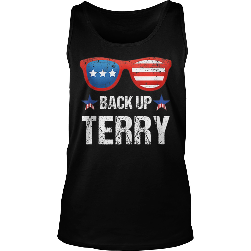 Back Up Terry American Flag 4th Of July Sunglasses Tank top