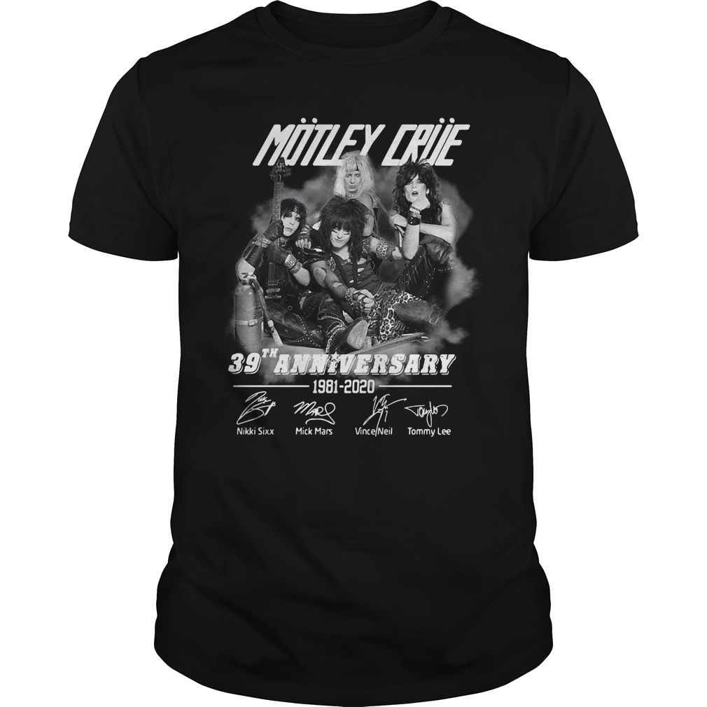 Motley Crue 39th Anniversary 1982-2020 Shirt