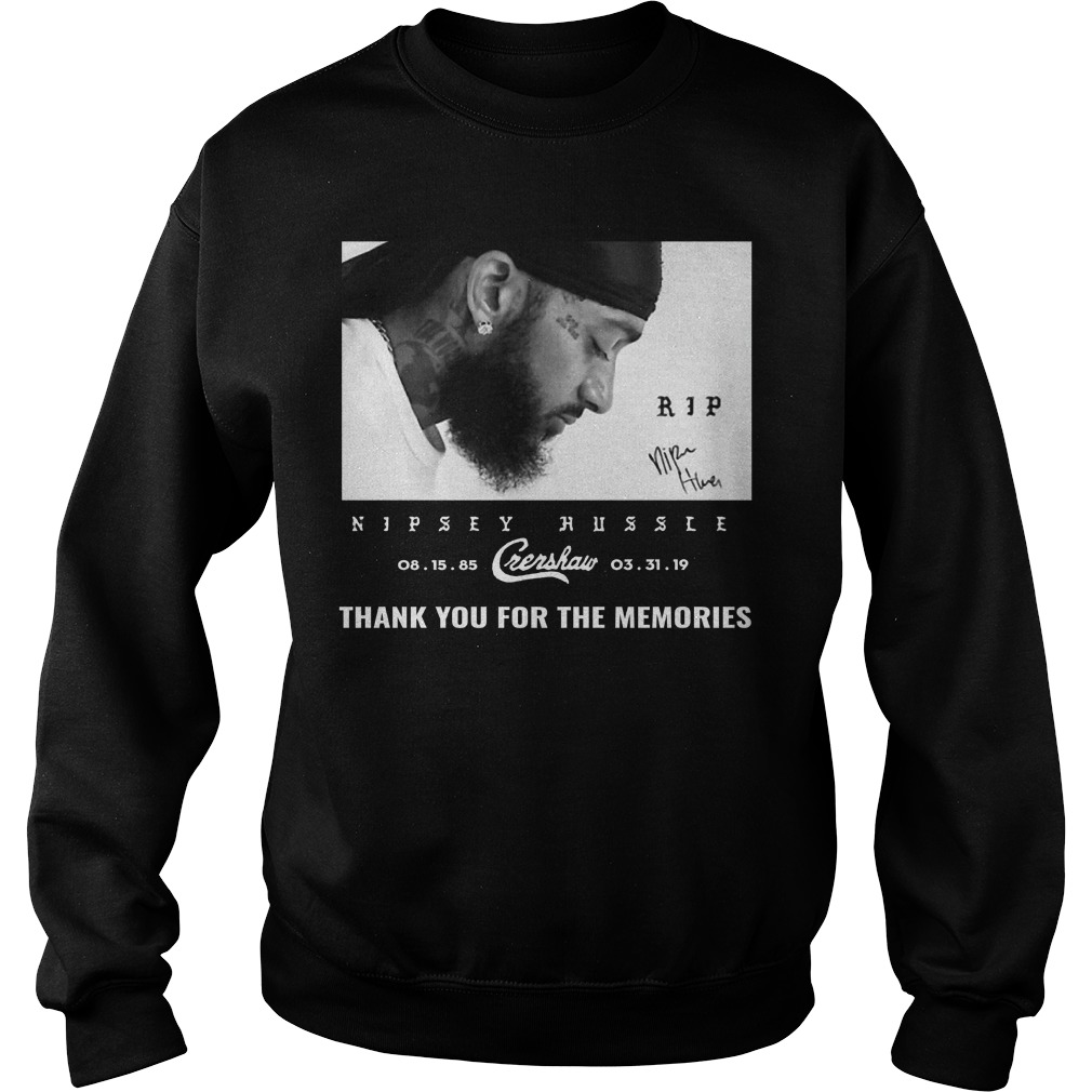 Nipsey Hussle Thanks For The Memories Sweater