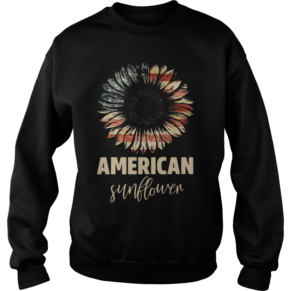 Official American Flag Sunflower Sweatshirt