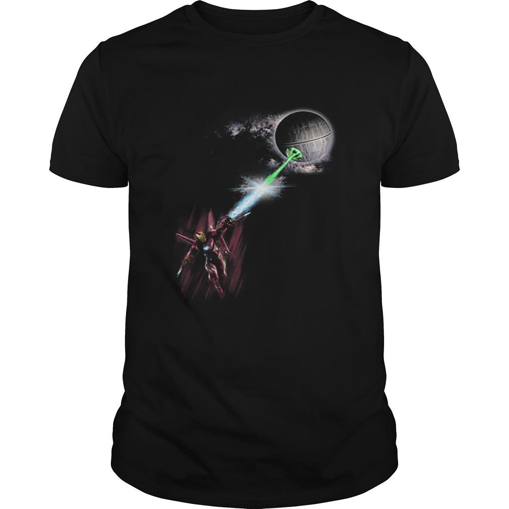 Official Iron Man Vs Death Star Shirt