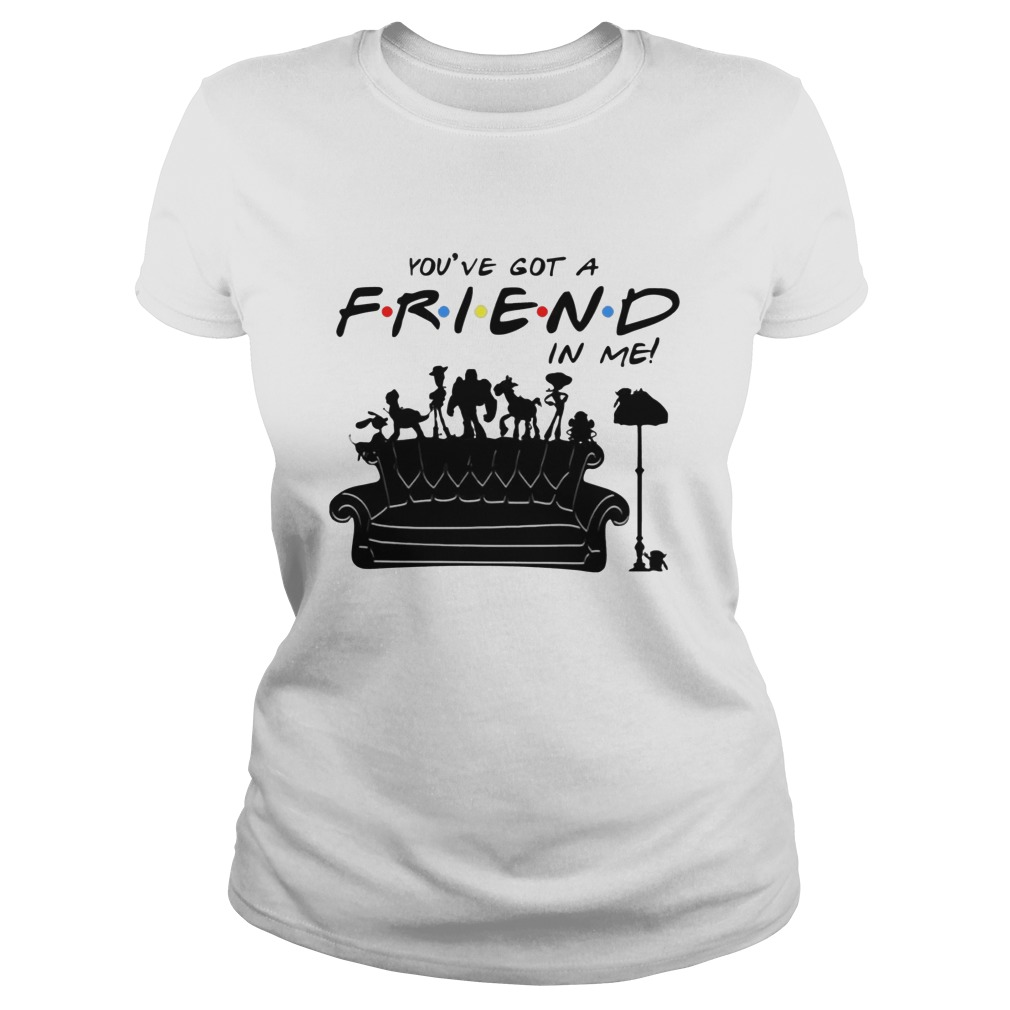 Toy Story Group Of Friends You've Got A Friend in Me Ladies Shirt