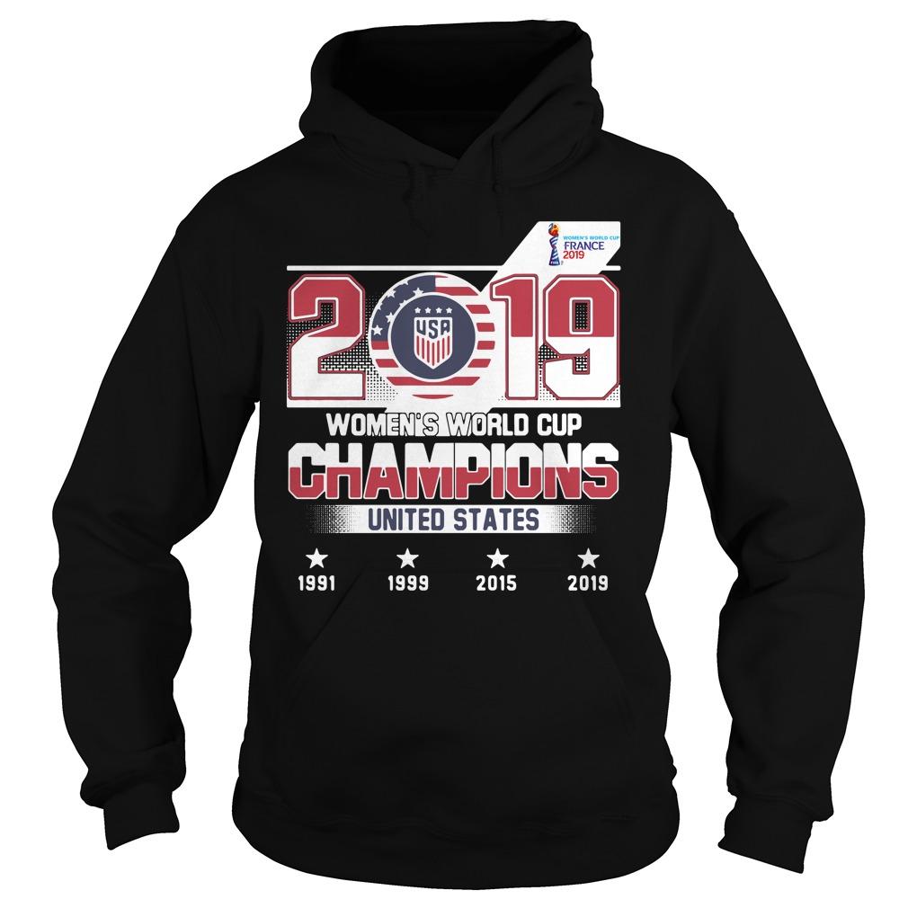 2019 Usa Women's World Cup Champions United States Shirt hoodie