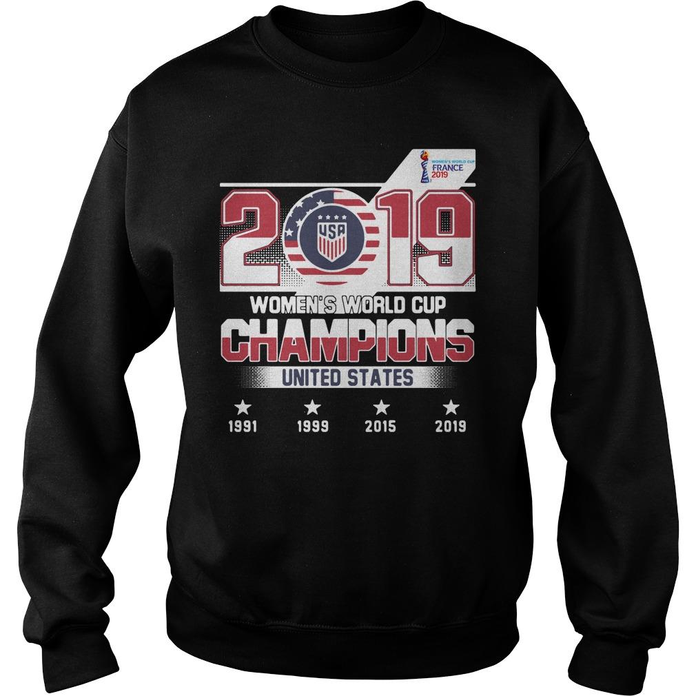 2019 Usa Women's World Cup Champions United States Shirt sweater