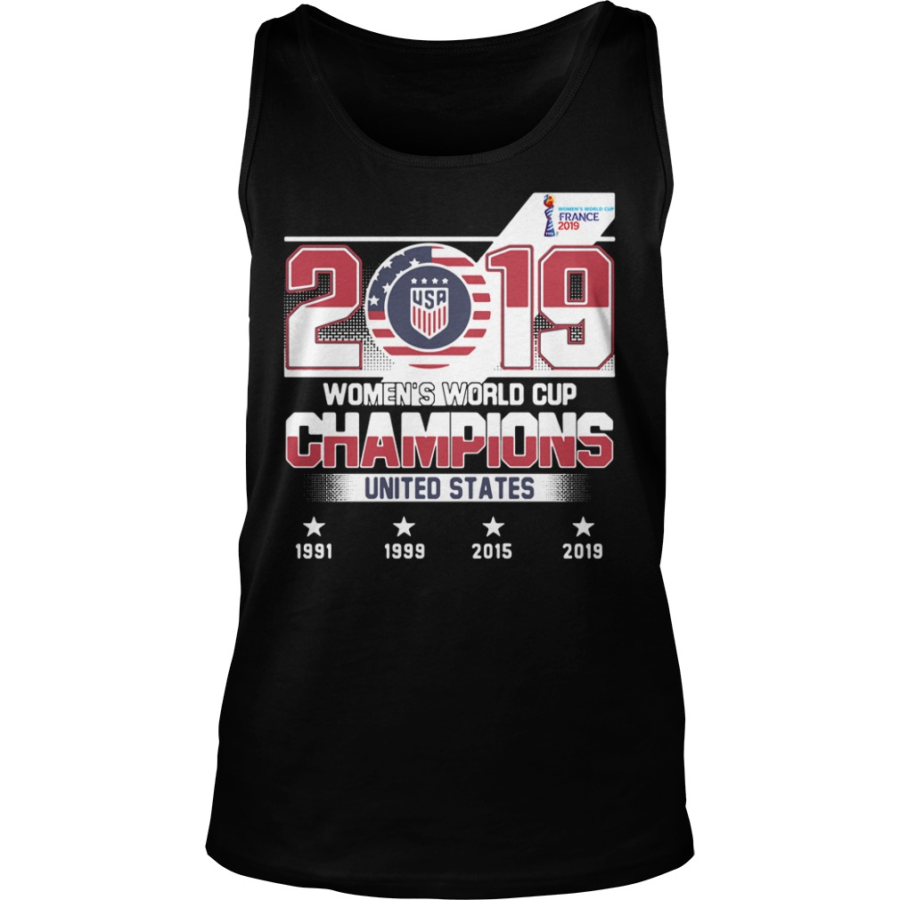 2019 Usa Women's World Cup Champions United States Shirt tank top