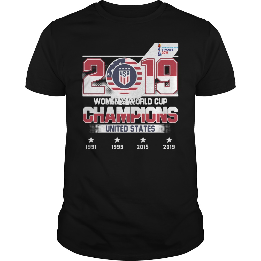 2019 Usa Women's World Cup Champions United States Shirt