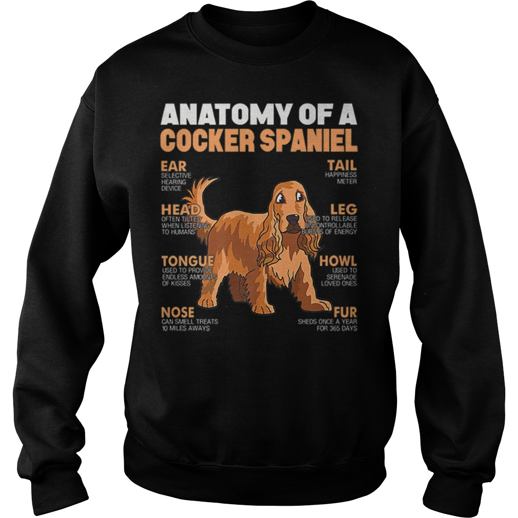 Anatomy Of A Cocker Spaniel The Function Of Dog's Part Shirt sweater