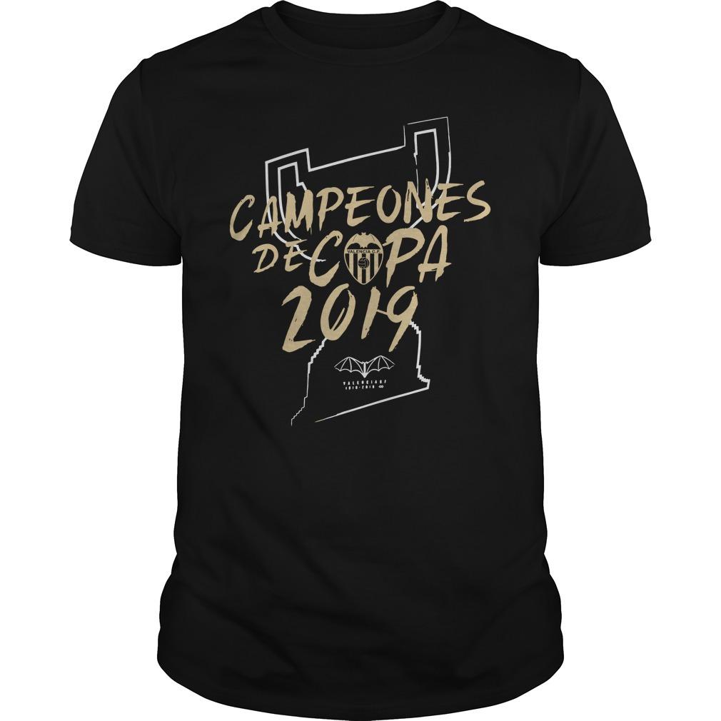 Campeones De Copa 2019 Valencia Cf Shirt