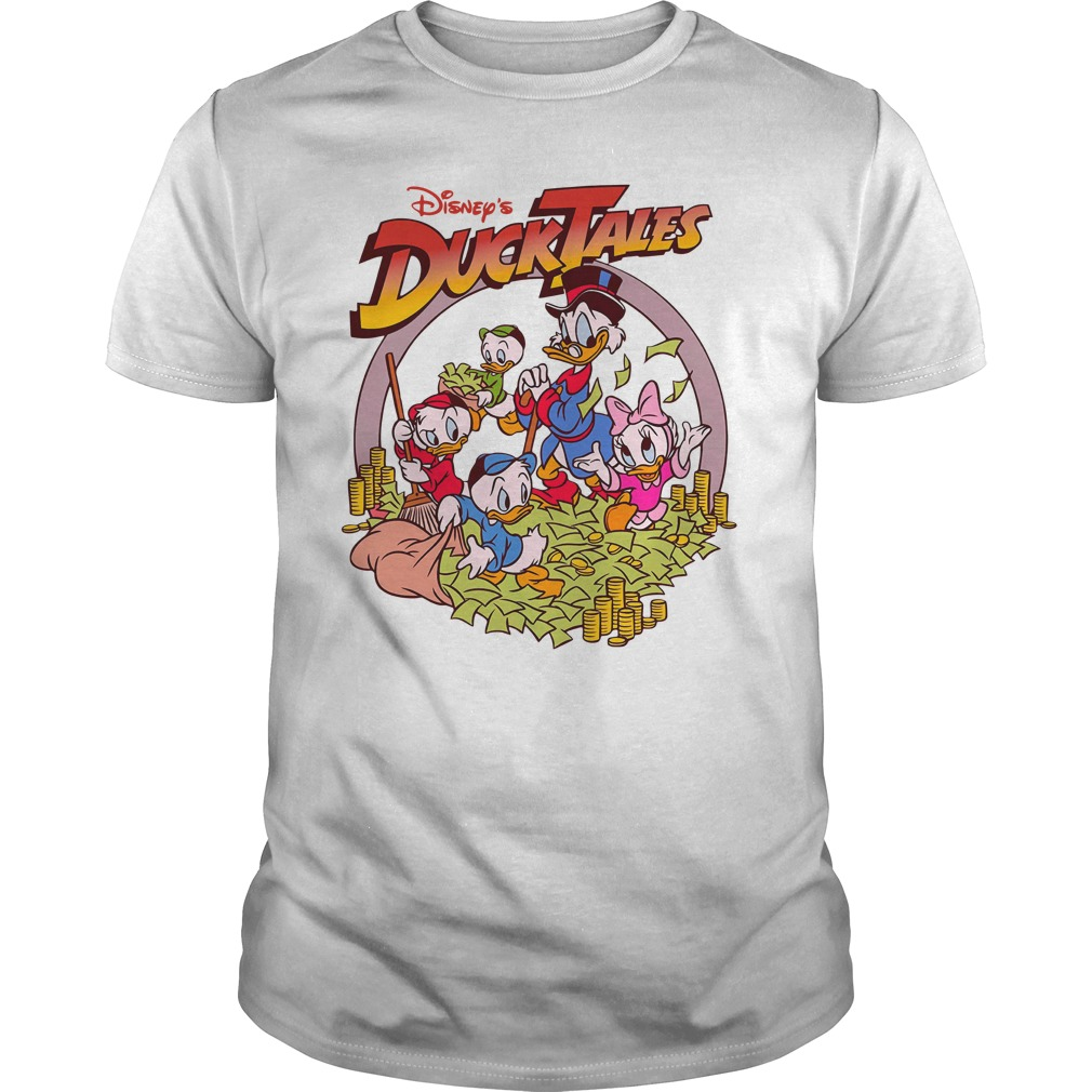Disney Ducktales Retro Logo Scrooge Adult Shirt