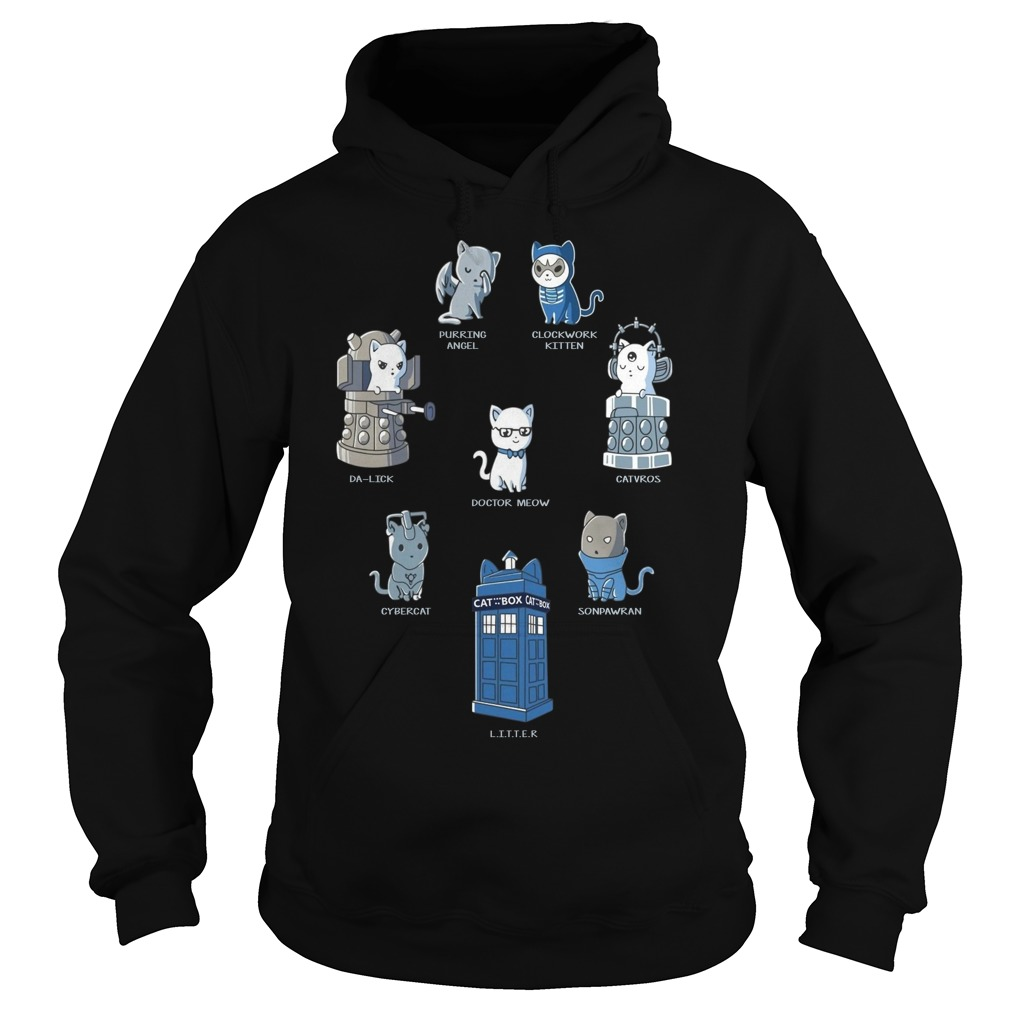 Doctor Who Cats Play Roles Shirt hoodie