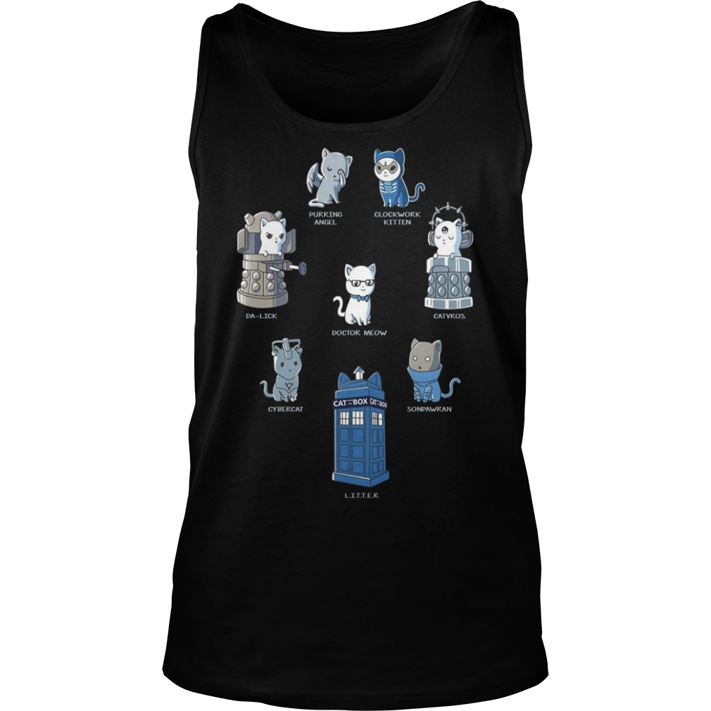 Doctor Who Cats Play Roles Shirt tank top