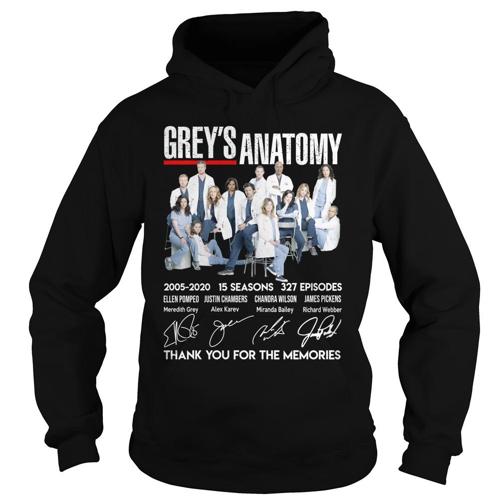 Grey Anatomy 15 Year Thank For The Memories Shirt hoodie