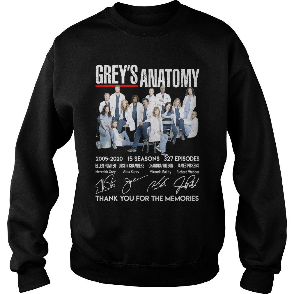Grey Anatomy 15 Year Thank For The Memories Shirt sweater