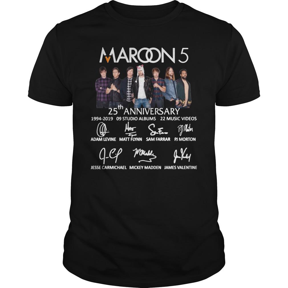 Maroon 5 25th Anniversary Shirt
