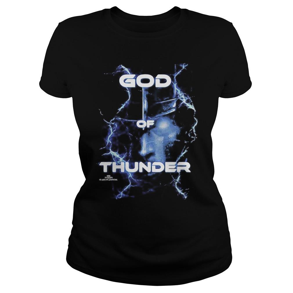 Marvel Thor Ragnarok God of Thunder Graphic Tee Shirt ladies tee