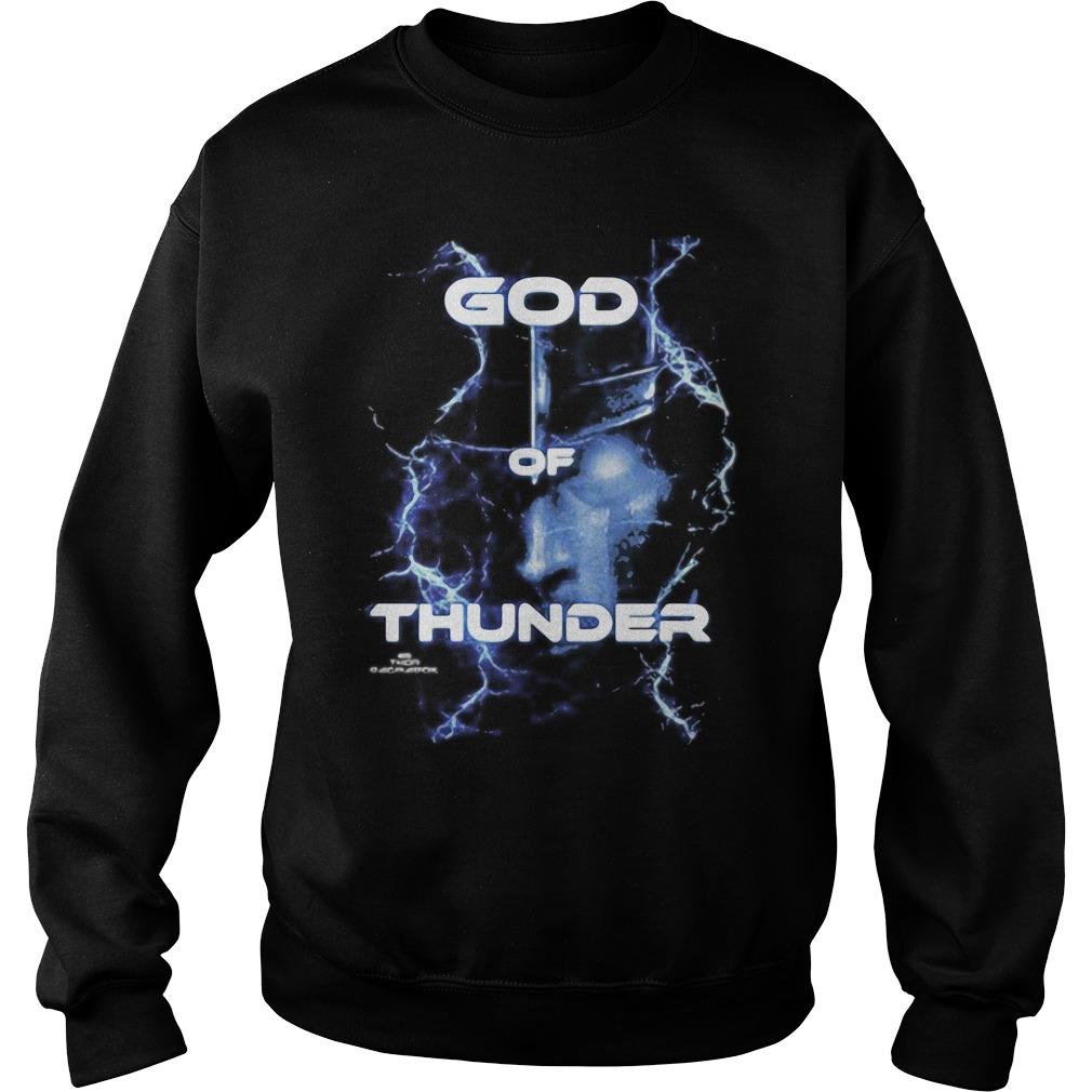 Marvel Thor Ragnarok God of Thunder Graphic Tee Shirt sweater