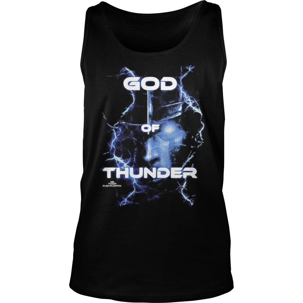 Marvel Thor Ragnarok God of Thunder Graphic Tee Shirt tank top
