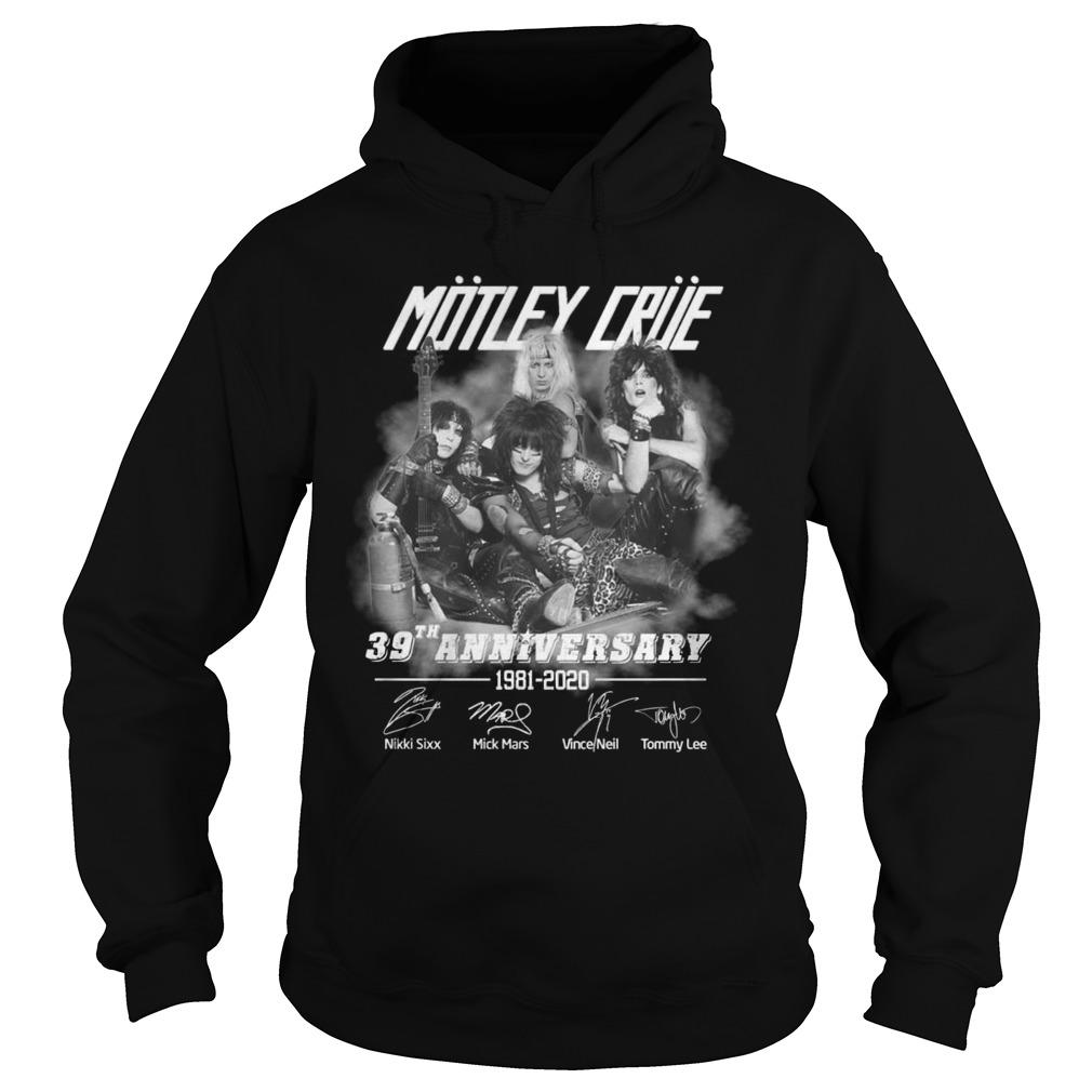 Motley Crue 39th Anniversary 1981 2020 Shirt hoodie