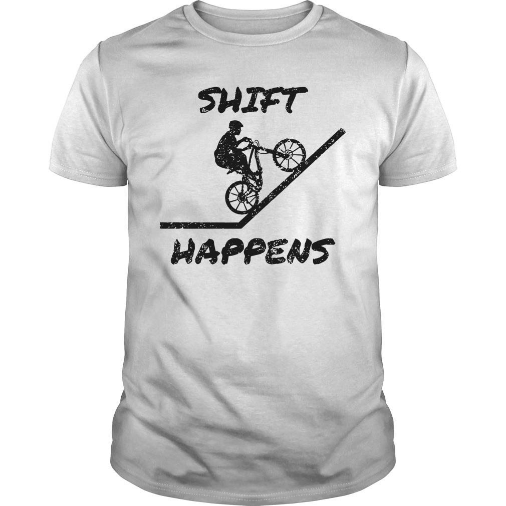 Mountain Biking Shift Happens Shirt