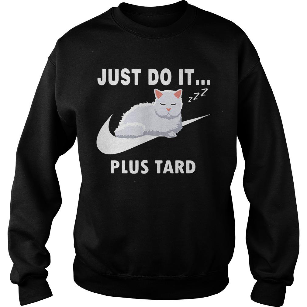 Nike Cat Just Do It Plus Tard Shirt sweater