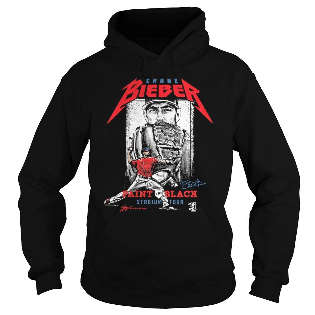 Shane Bieber Paint The Black Stadium Tour Shirt hoodie