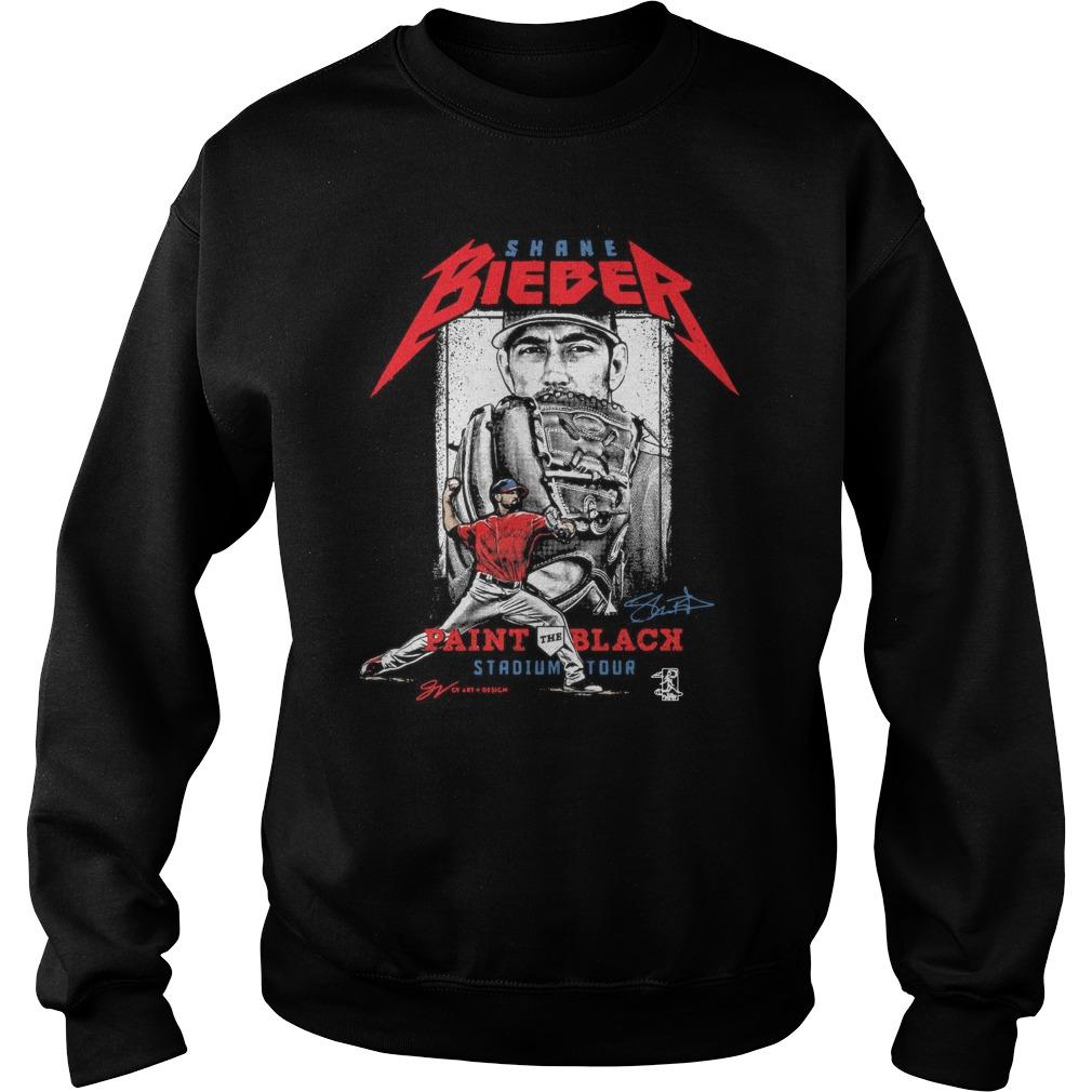 Shane Bieber Paint The Black Stadium Tour Shirt sweater