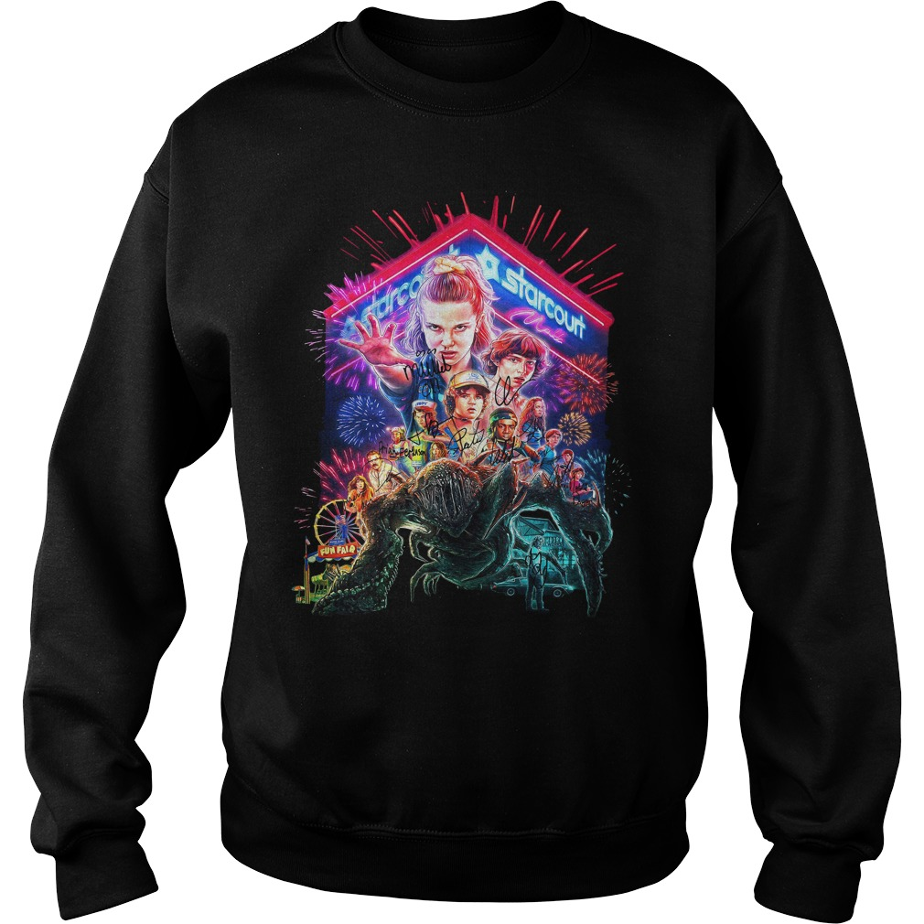 Stranger Things Season 3 Poster Starcourt Signature Shirt sweater