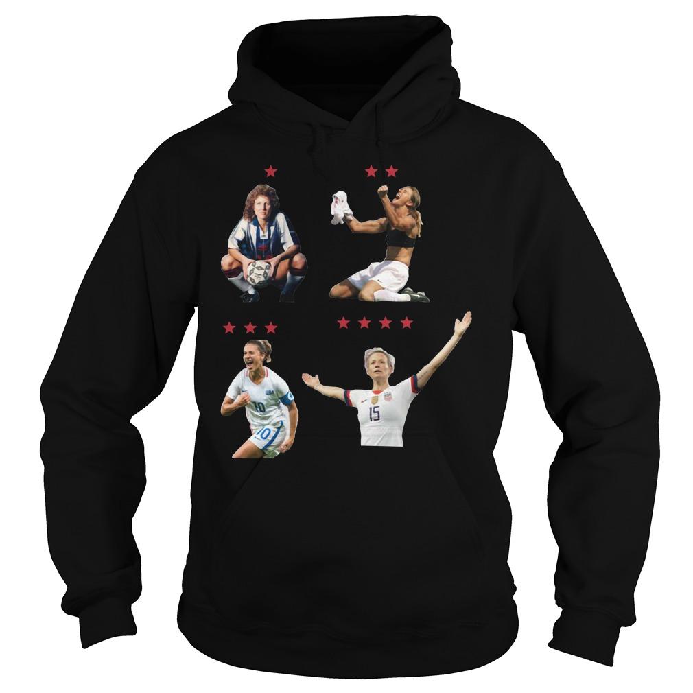 USWNT 4 World Cup 2019 Shirt hoodie