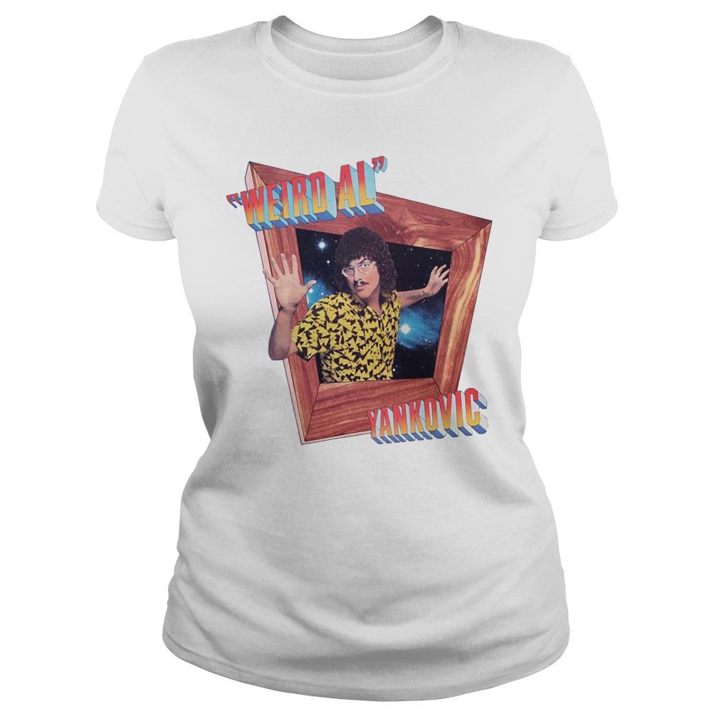 White Dustin Weird Al Yankovic's Shirt ladies tee