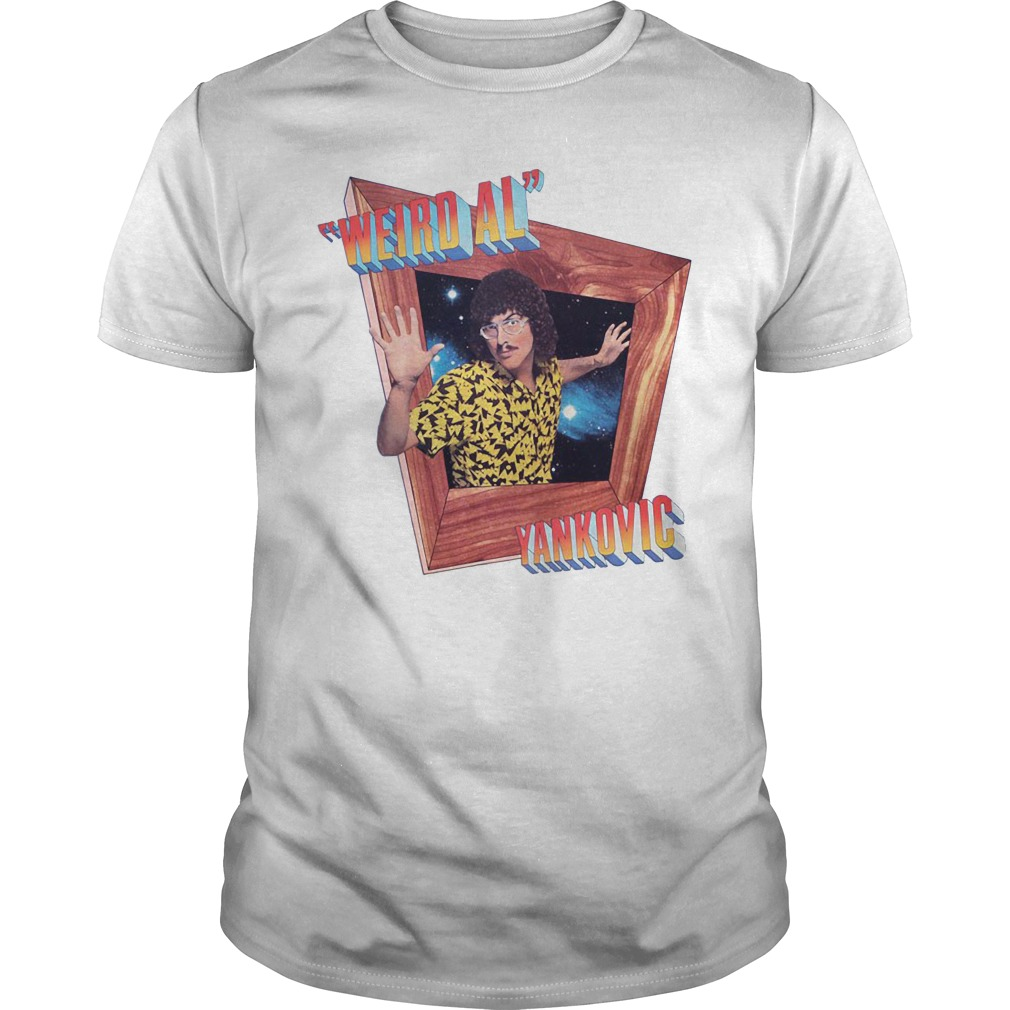 White Dustin Weird Al Yankovic's Shirt
