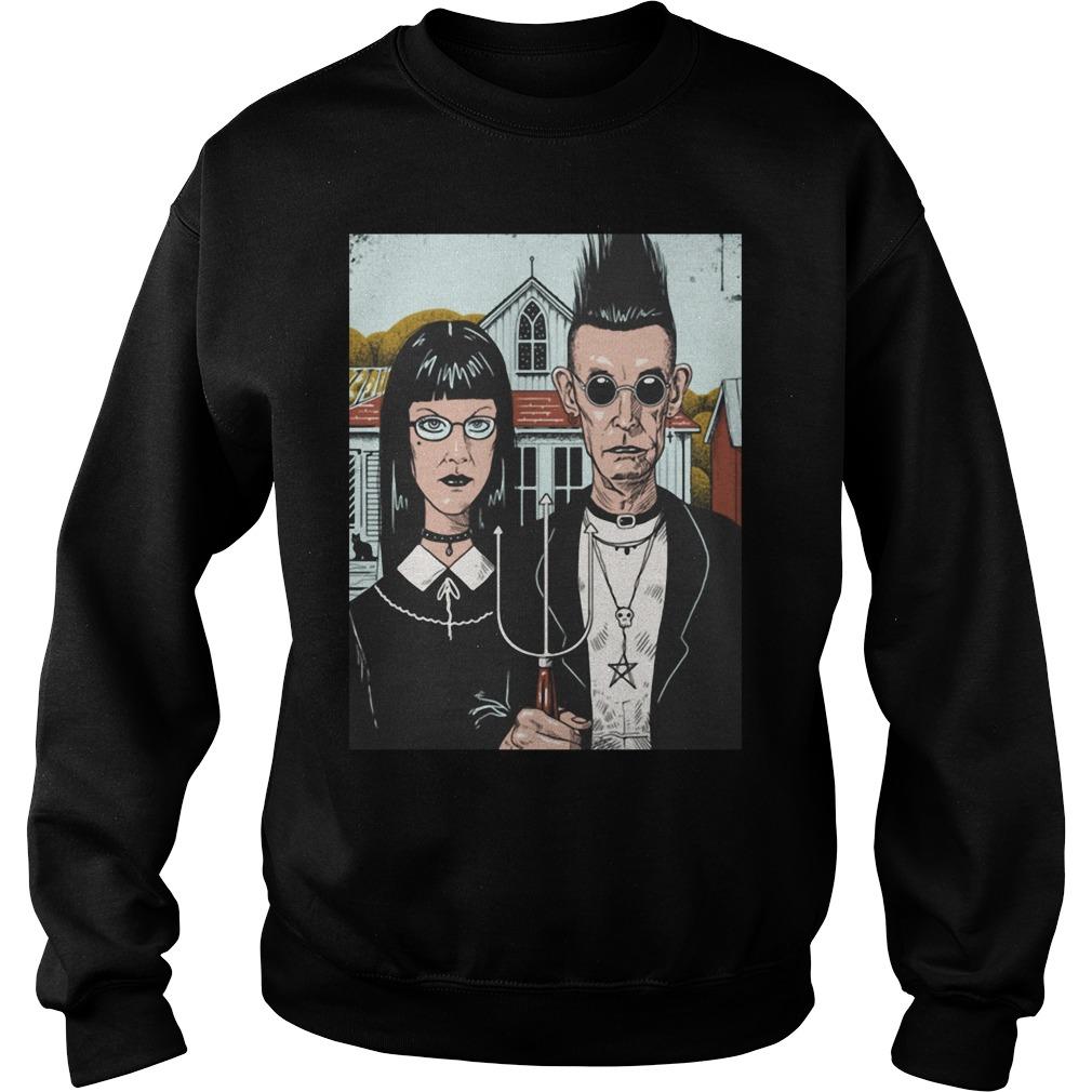 American Goth Black Shirt sweater