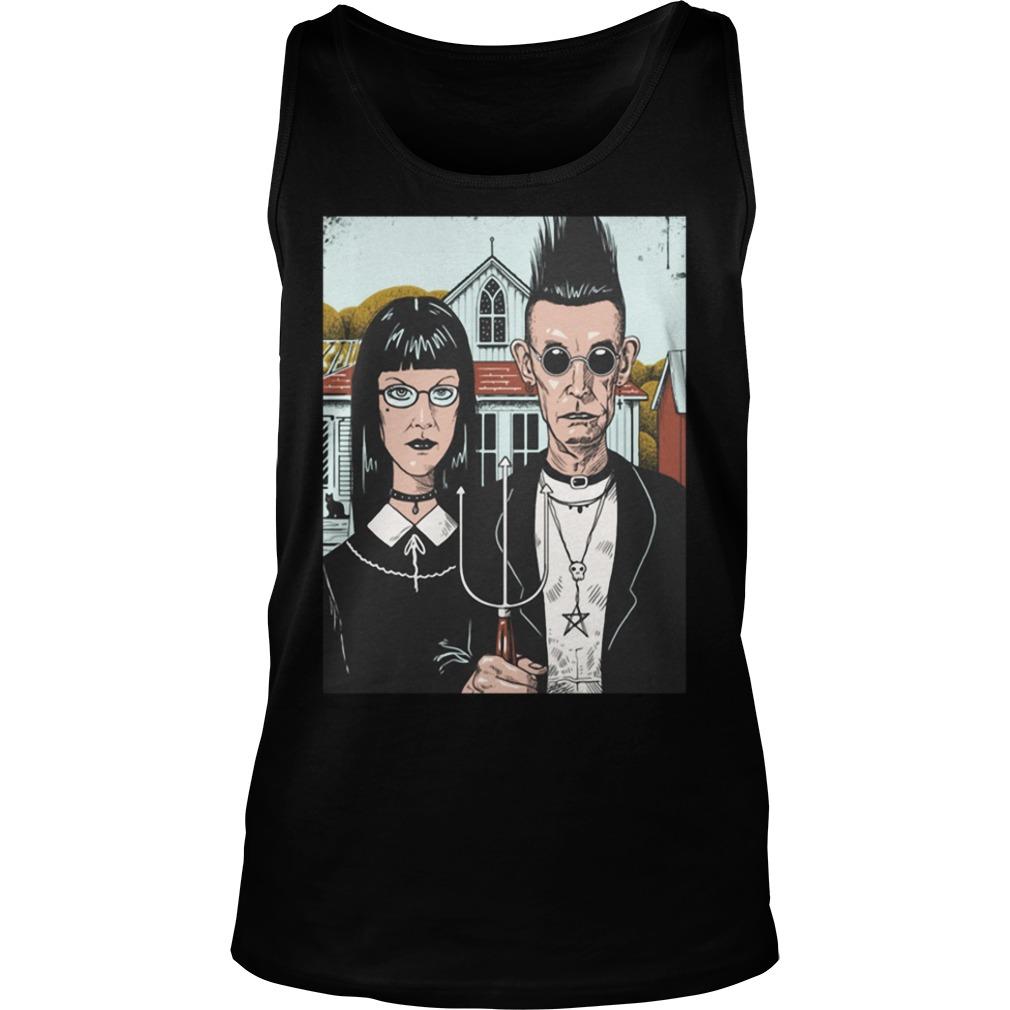 American Goth Black Shirt tank top