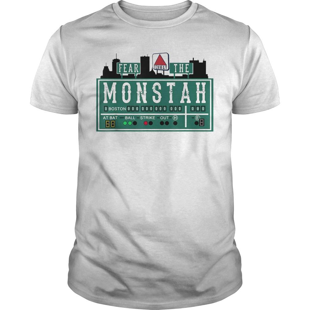 Baseball Monster Fear The Monstah Shirt