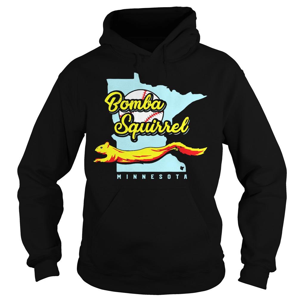 Bomba Squirrel Minnesota Black Shirt hoodie