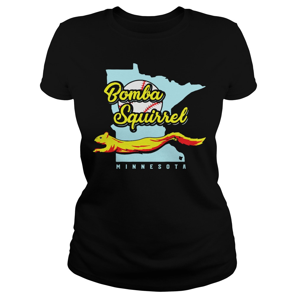 Bomba Squirrel Minnesota Black Shirt ladies tee
