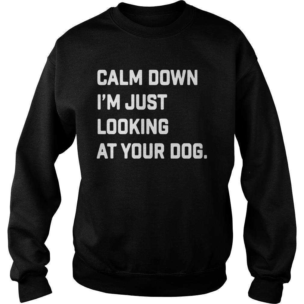 Calm Down I'm Just Looking At Your Dog Shirt sweater